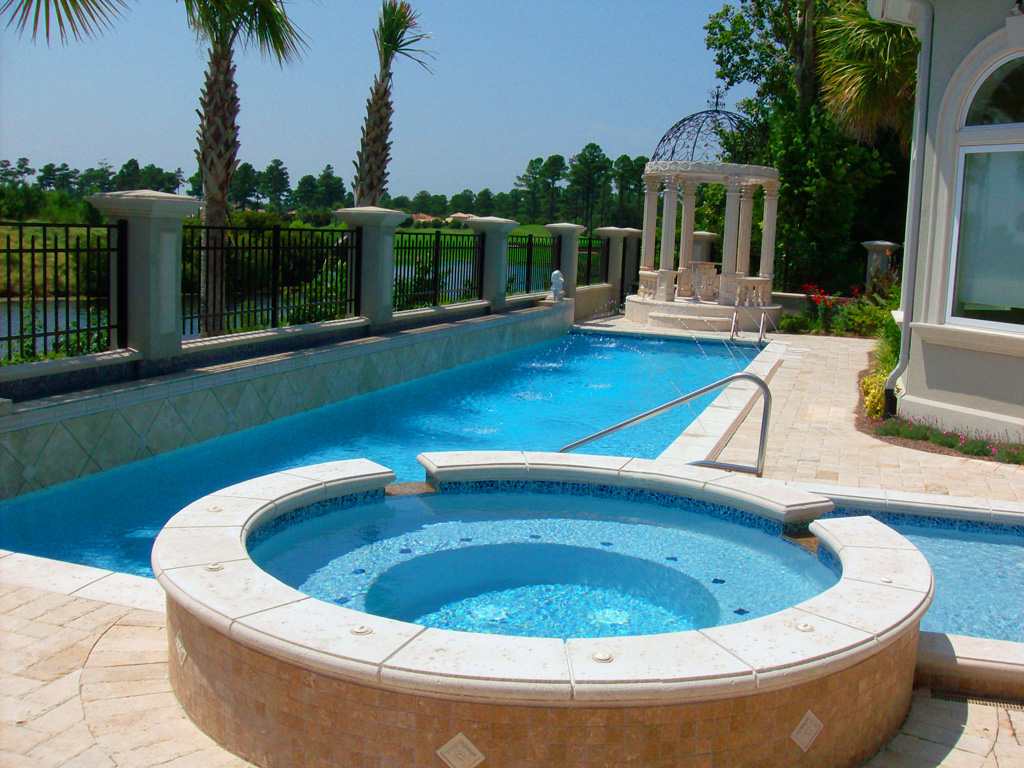 Our swimming pool designs myrtle beach pools acm pools for Swimming pool design new zealand
